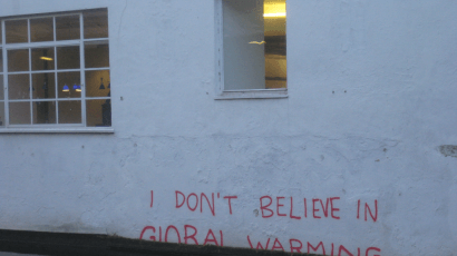 Graffiti in London, possibly a work of Banksy. Photo credit: Matt Brown