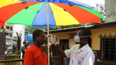 Ebola screening in Guinea in 2014.