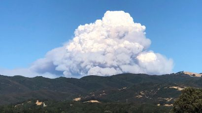 Mendocino Complex Fire on August 4, 2018.