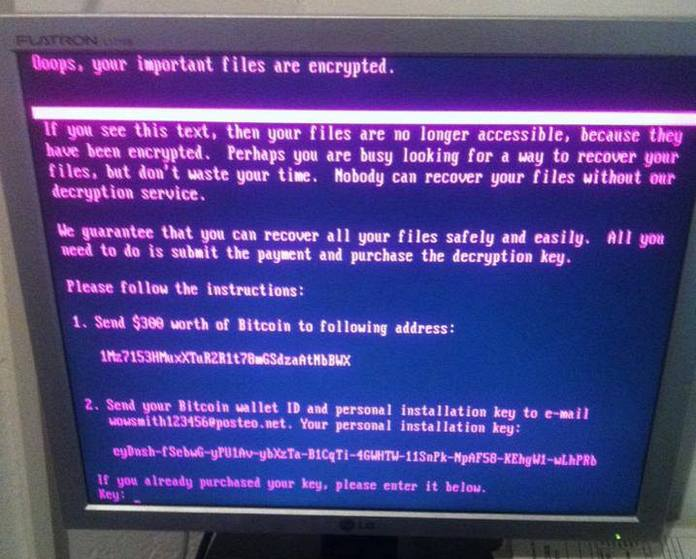 NotPetya initially disguised itself as ransomware with messages demanding payment. Photo by Jbuket via Creative Commons. itself as ransomware with messages demanding payment.