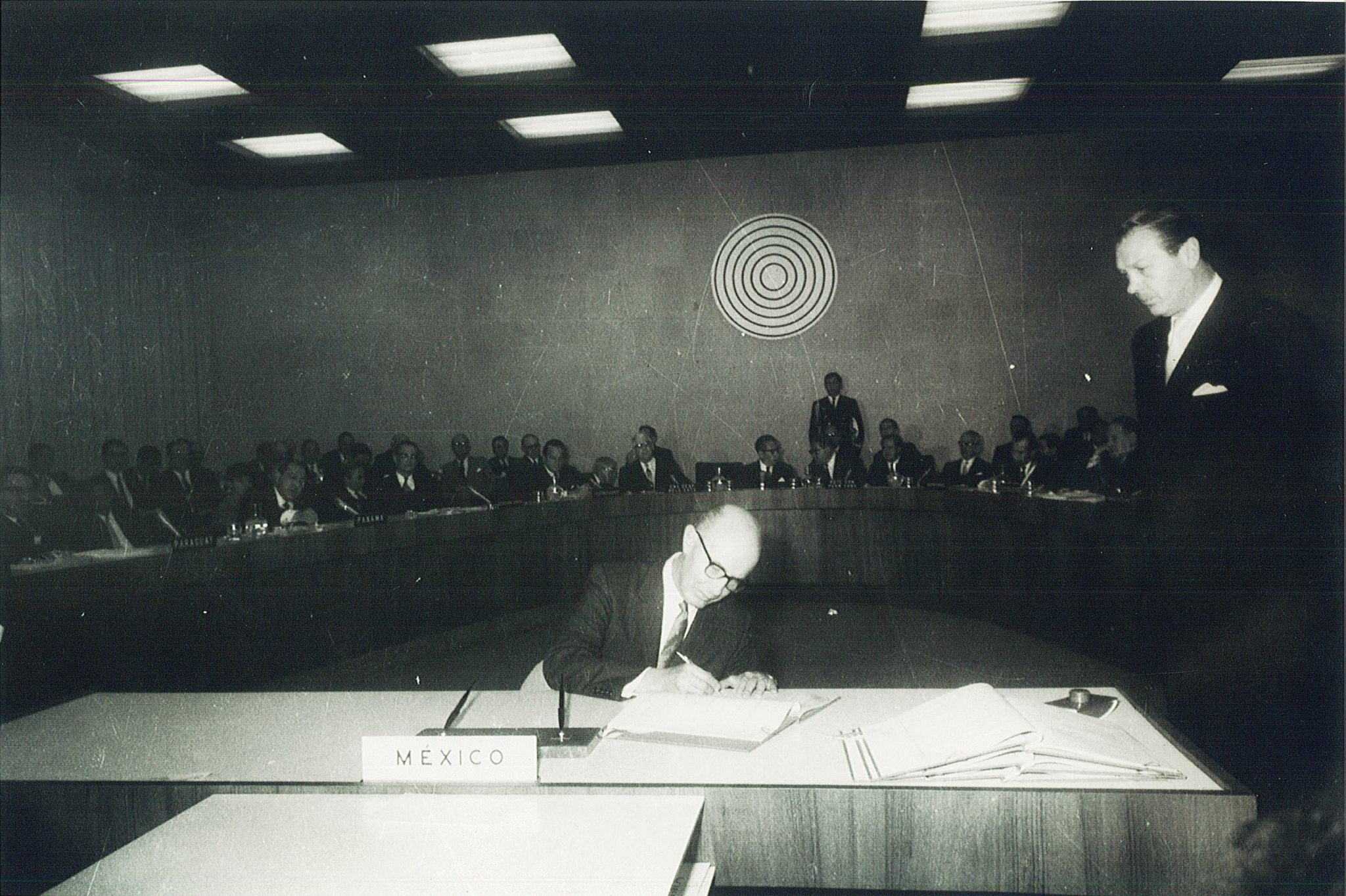 Mexico signs the Treaty of Tlatelolco in 1967.