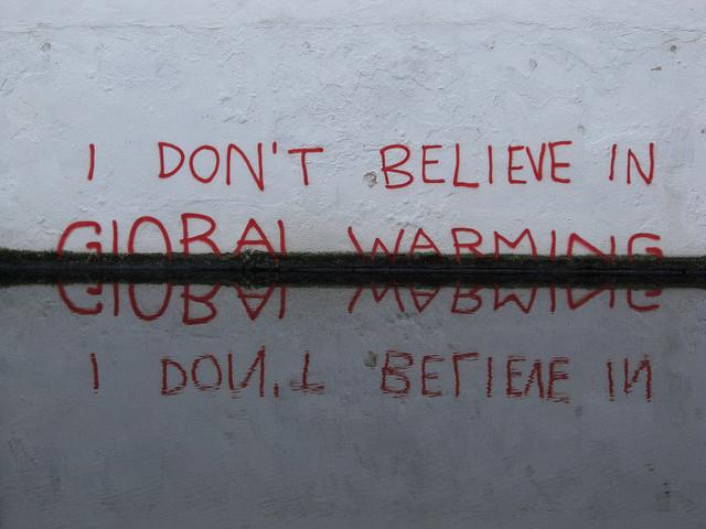 partly submerged graffiti