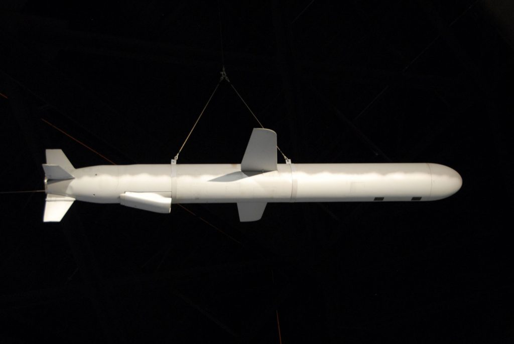 The BGM-109G, a ground-launched cruise missile shown here at the National Museum of the US Air Force, was one of the US weapons banned by the INF. (Photo credit: US Air Force.)