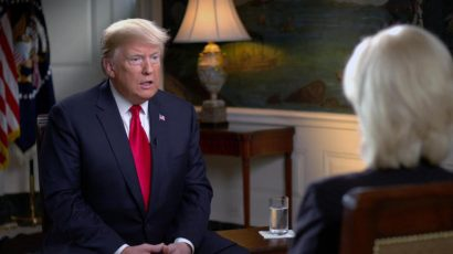 Lesley Stahl interviewed President Donald Trump in October 2018. Credit: CBS News
