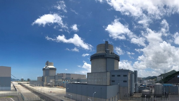 The world's first AP1000 reactor, at the Sanmen nuclear power plant in China.
