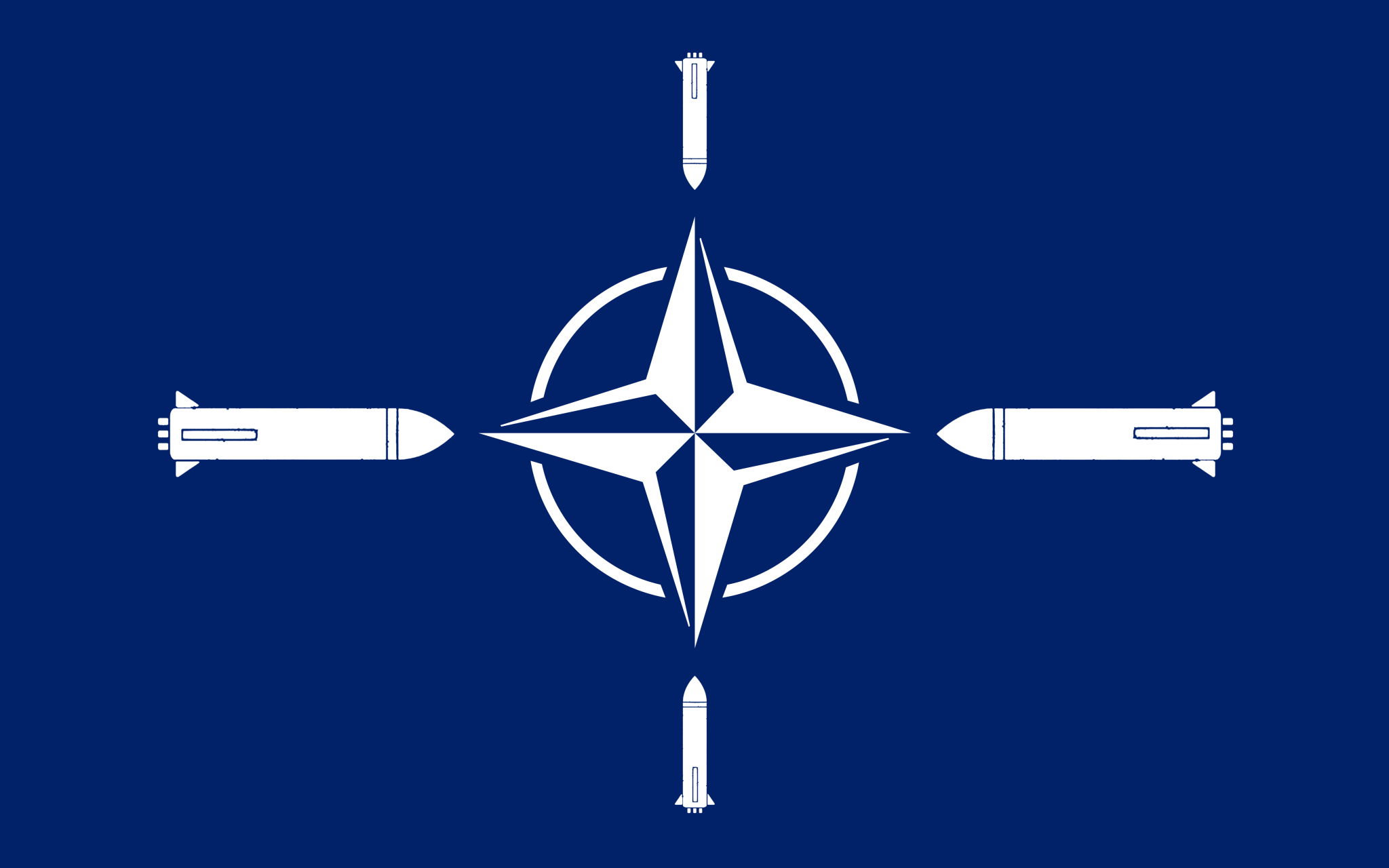 NATO flag missiles