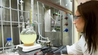 Jennifer Exelby leads a team of chemical-agent handlers at the US Army's Edgewood Chemical Biological Center. Photo Credit: US Army