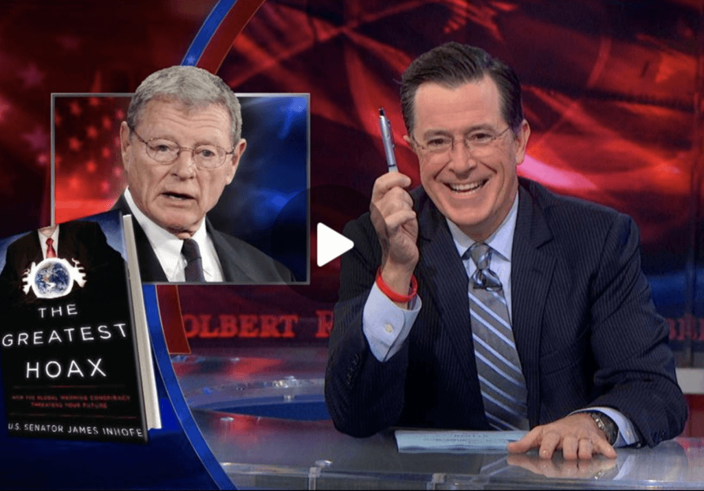 Stephen Colbert skewers climate change deniers