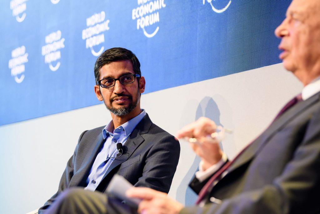 Google CEO Sundar Pichai. Credit: © World Economic Forum / Manuel Lopez CC BY-NC-SA 2.0