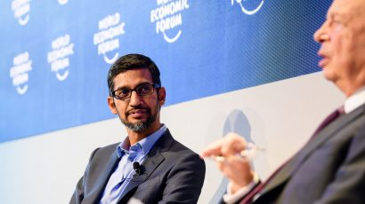 Google CEO Sundar Pichai. Credit: © World Economic Forum / Manuel Lopez CC BY-NC-SA 2.0
