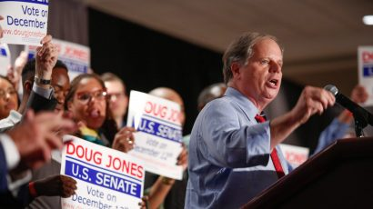 Doug Jones speaks at a campaign event. Credit: Digital Campaign Manager for Doug Jones for Senate. CC BY-SA 4.0