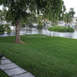 Flooding from a king tide inundates a neighborhood served by septic tanks. Credit: Miami-Dade County